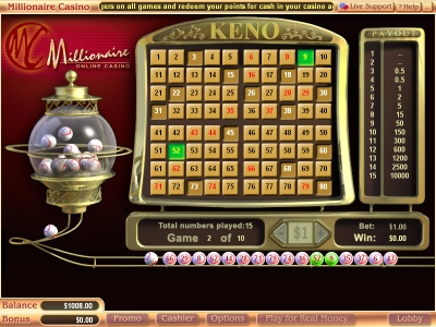 millionaire-casino-keno
