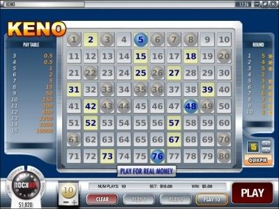 rockbet-casino-keno
