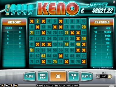 free keno games online no download