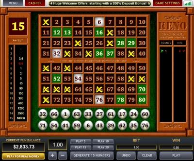 Online keno casino какие онлайн казино дают деньги за регистрацию без депозита в казино